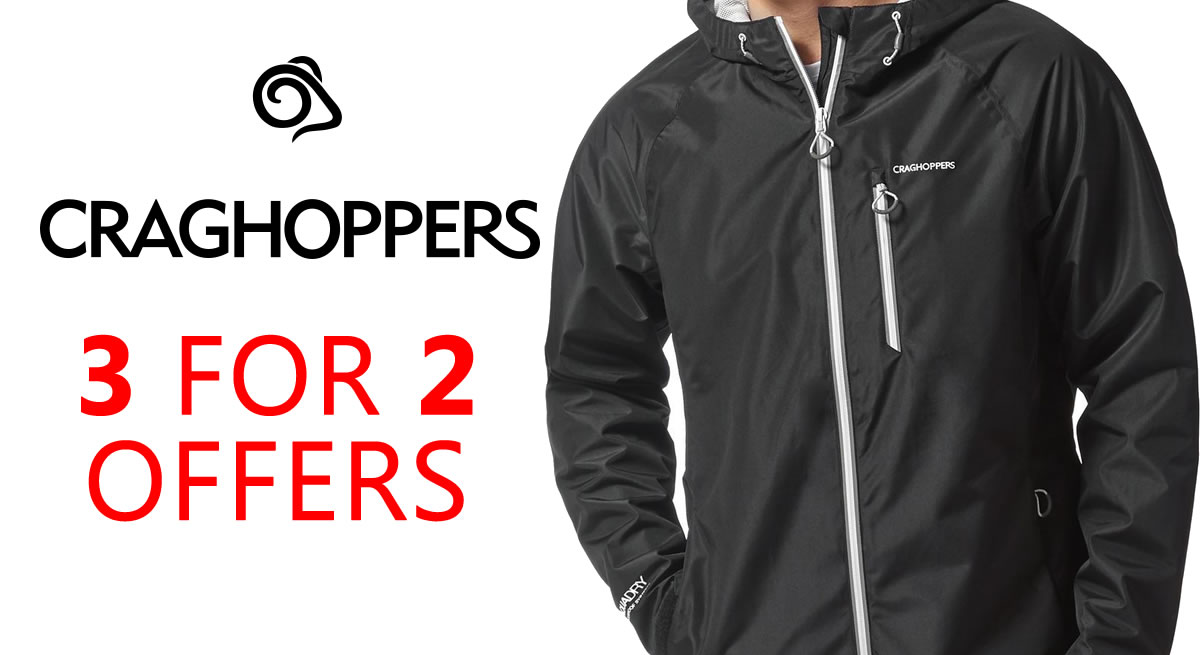 3 for 2 on craghoppers buy now and save