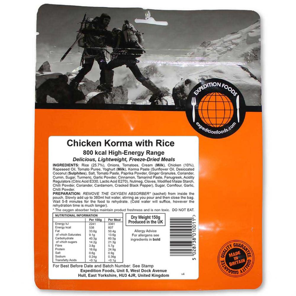 Expedition Foods Chicken Korma with Rice (800kcal)