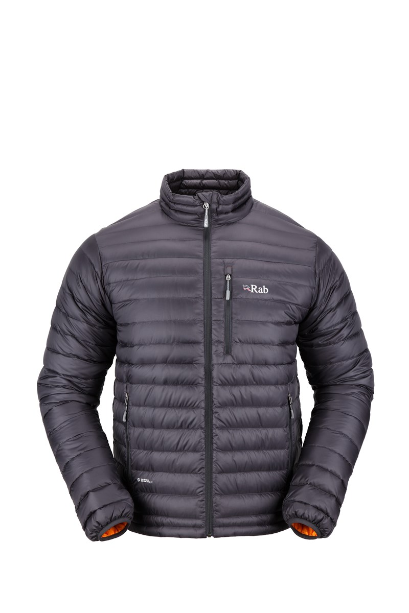 Rab Mens Microlight Jacket Beluga/Squash