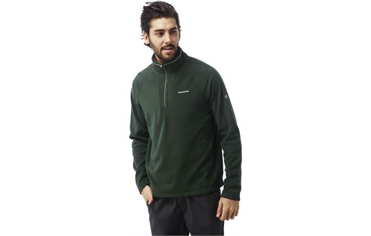 Craghoppers Mens Selby Half Zip-Asteroid Green