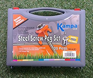 Kampa Steel Screw Peg With 13mm Hex Head