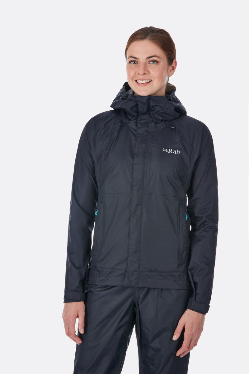 Rab Downpour Jacket Womens Black