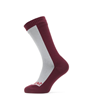 SealSkinz Waterproof Cold Weather Mid Length Sock Grey Red